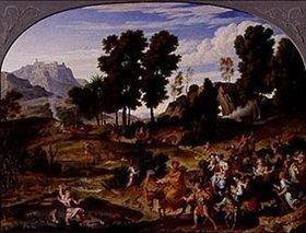 Joseph Anton Koch: Ideale Landschaft mit der Heimkehr Jakobs