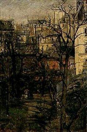 Gotthard Kuehl: Blick auf den Montmartre in Paris