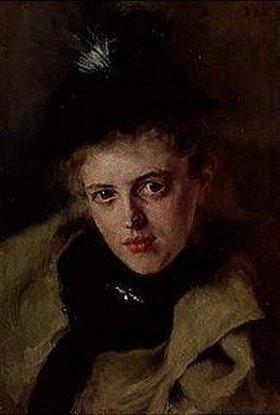 Wilhelm Leibl: Bildnis der Frau Apotheker Rieder