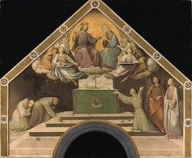 Johann Friedrich Overbeck: Das Rosenwunder des hl. Franz von Assisi. Farbskizze für die Portiuncula-Kapelle