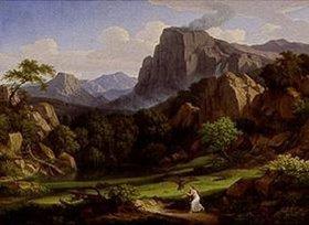 Johann Christian Reinhart: Ideale Landschaft mit einer Szene aus Amor und Psyche