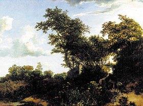 Jacob Isaacksz van Ruisdael: Dünenlandschaft mit einem Eseltreiber
