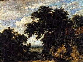 Jacob Isaacksz van Ruisdael: Waldige Landschaft