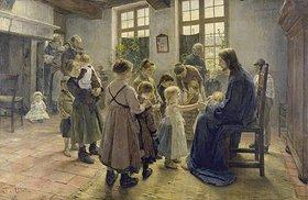 Fritz von Uhde: Lasset die Kindlein zu mir kommen