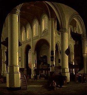 Hendrik Cornelisz van Vliet: Inneres der Alten Kirche in Delft