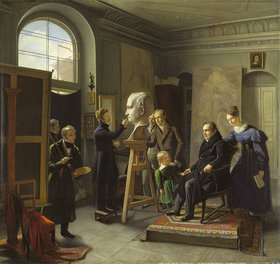Carl Christian Vogel von Vogelstein: Ludwig Tieck, von David d'Angers porträtiert