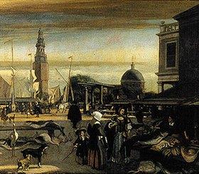 Emanuel de Witte: Der neue Fischmarkt in Amsterdam