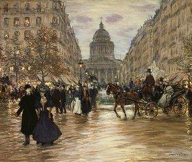 Jean François Raffaelli: Der Boulevard Saint-Michel in Paris. Nach
