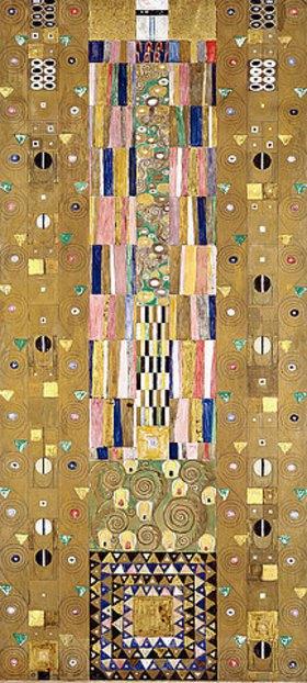 Gustav Klimt: Werkvorlage zum Stocletfries. Schmalwand