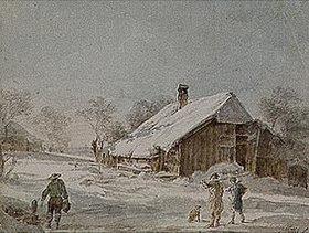 Johann Georg von Dillis: Verschneite Häuser