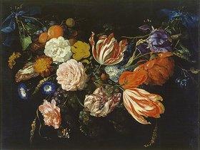 Jan Davidsz de Heem: Girlande aus Blumen und Früchten. 1. Hälfte 17. Jahrhundert