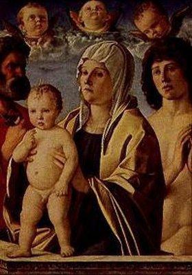 Giovanni Bellini: Maria mit dem Kind zwischen den hll. Petrus und Sebastian