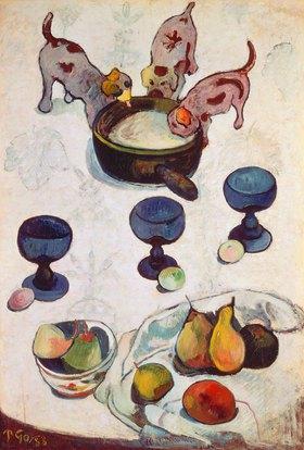 Paul Gauguin: Stilleben mit drei Hündchen