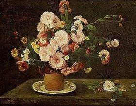 Gustave Courbet: Stilleben mit Astern
