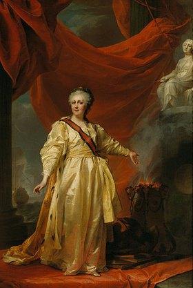 Dimitrij Grigorjew Lewizkij: Katharina II. als Gesetzgeberin im Tempel der Gerechtigkeit