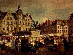 Heinrich Hermanns: Markt am Jan Wellem in Düsseldorf