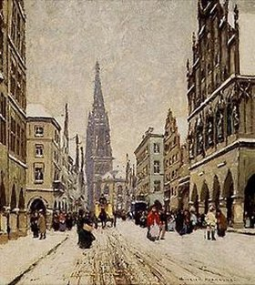 Heinrich Hermanns: Wintertag in Münster