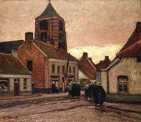 Eugen Kampf: Dorf in Flandern