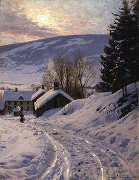 Peder Moensted: Wintersonne bei Lillehammer