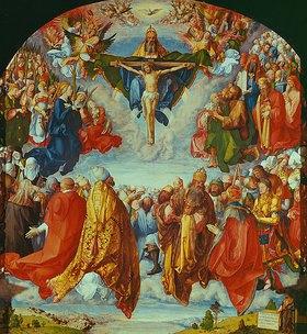 Albrecht Dürer: Das Allerheiligenbild. Anbetung der Dreifaltigkeit als Vision einer Civitas Die