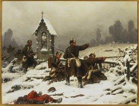 Christian Sell d.Ä.: Preussische Infanterie im Schnee