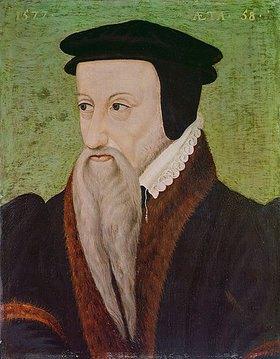 Anonym: Bildnis des Reformators Théodore de Beze (1519-1605), Rektor der Universität Gen