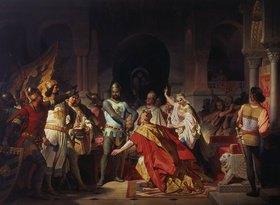 Philipp Foltz: Demütigung Kaiser Friedrich Barbarossas durch Heinrich den Löwen