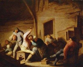 Adriaen van Ostade: Ausgelassene Bauern in einer Schenke