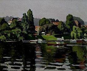 Albert Marquet: Boote und Häuser, Ile de Mignaux