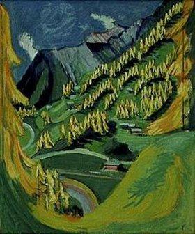 Ernst Ludwig Kirchner: Bergabhang mit gelben Bäumen