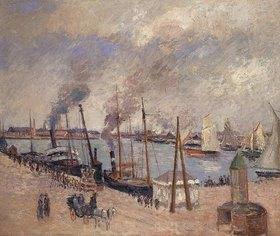 Camille Pissarro: Szene im Hafen von Le Havre