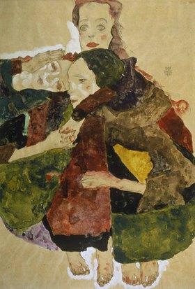 Egon Schiele: Gruppe von drei Mädchen