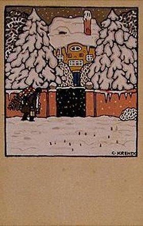 Carl Krenek: Weihnachtskarte der Wiener Werkstätten, No