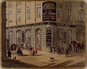 Anonym: Die Wiener Niederlassung der k.u.k. Hutfabrik Franz May in der Rotenturm