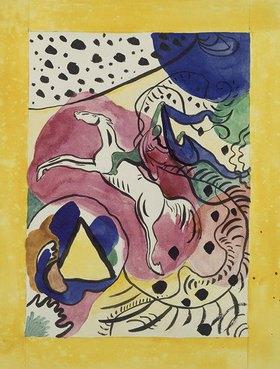 Wassily Kandinsky: Entwurf für den Almanach Der blaue Reiter
