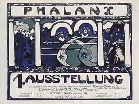Wassily Kandinsky: Plakat für die erste Phalanx-Ausstellung 1901. (Farblithographie nach einer Zeichnung von Kandinsky)