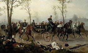 Wilhelm Camphausen: Napoleon III. und Bismarck auf dem Wege nach Paris