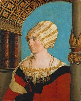 Hans Holbein d.J.: Dorothea Kannengiesser, Bildnis