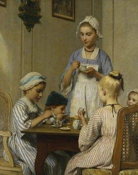 Albert Anker: Das Kinderfrühstück