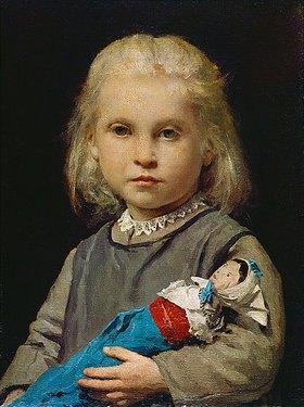 Albert Anker: Mädchen mit Puppe
