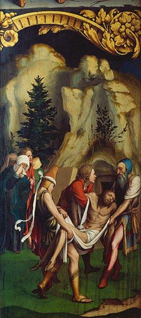 Hans Holbein d.J.: Die Grablegung Christi. Rechte Tafel unten des Passionsaltars. 1524(?)