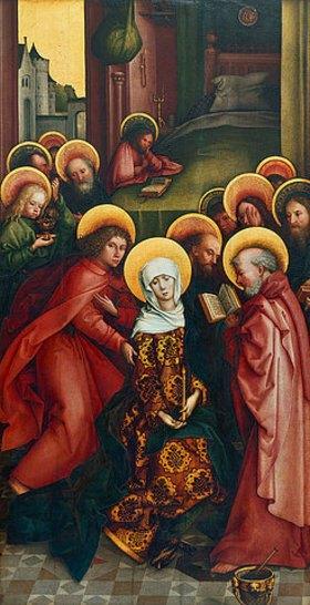 Hans Holbein d.Ä.: Der Tod Mariae. 1495(?)