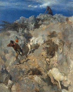 Arnold Böcklin: Pan erschreckt einen Hirten