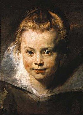 Peter Paul Rubens: Kopf eines Kindes (Clara-Serena Rubens?)