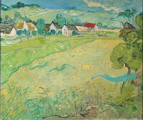 Vincent van Gogh: Sonnige Wiese bei Auvers. 1890