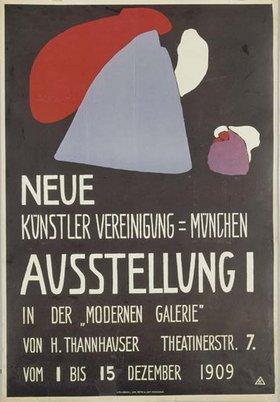 Wassily Kandinsky: Plakat Neue Künstlervereinigung München