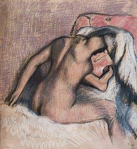 Edgar Degas: Dame bei der Toilette, den Nacken abtrocknend