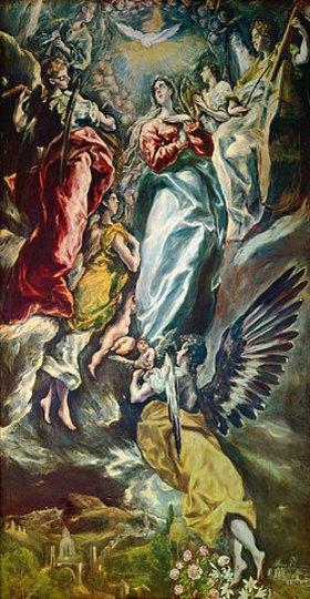 Greco El (Dominikos Theotokopoulos): Die unbefleckte Empfängnis