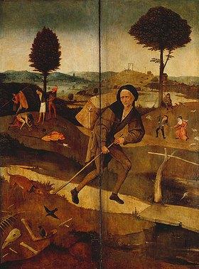 Hieronymus Bosch: Der verlorene Sohn. Außenseiten der Flügel zum Heuwagen