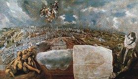 Greco El (Dominikos Theotokopoulos): Ansicht und Plan von Toledo